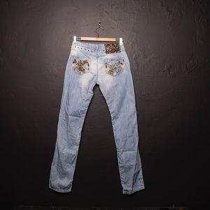 Just Cavalli Jeans Distressed Light Wash SZ 29